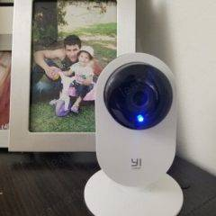 Yi Home camera with blue LED