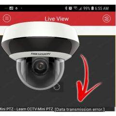 Hikvision data transmission error solved