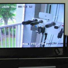 IP camera connected to a TV