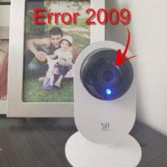 Yi Home- Camera Xiaomi Error 20009