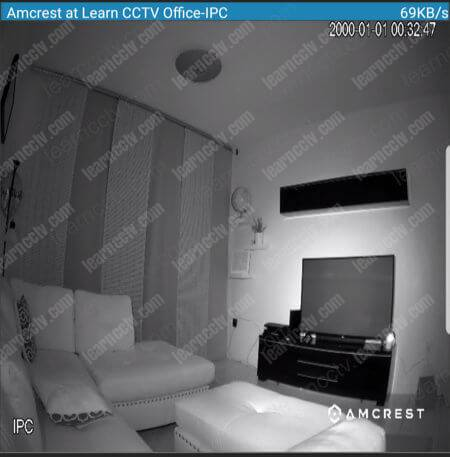 Amcrest ProHD IP Turret PoE Camera using the night vision feature
