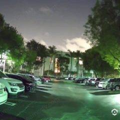 Amcrest Night-Color Camera on a darkparking loot
