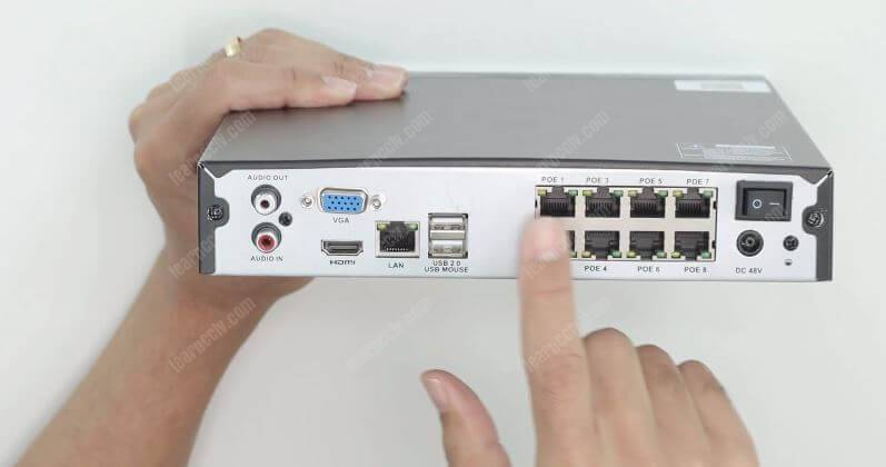 Zosi 8CH NVR PoE Ports