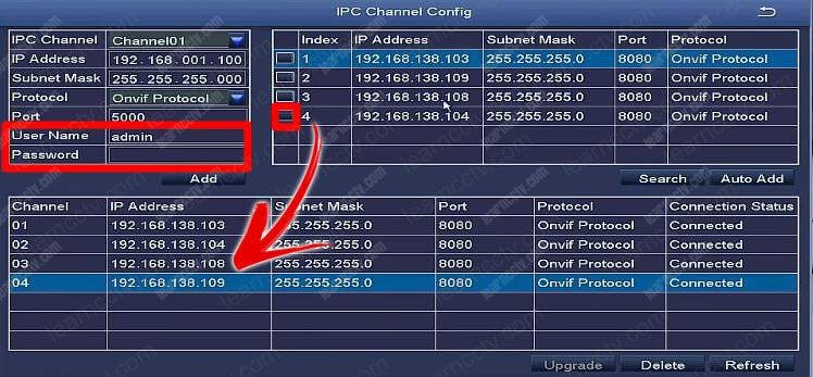 Zosi IPC Channel Config Finds Cameras