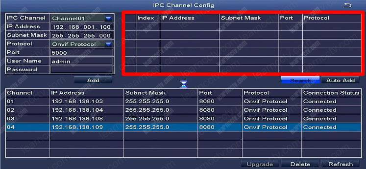 Zosi IPC Channel Config