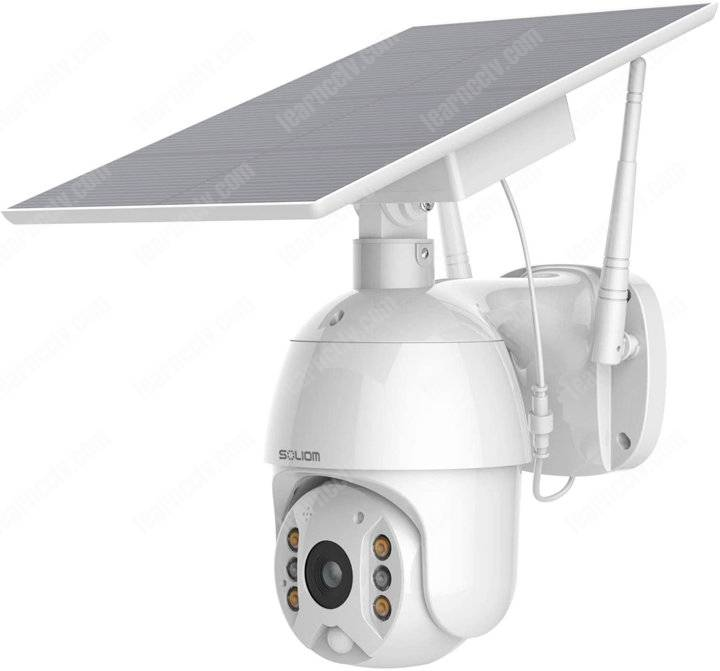 Soliom Camera S600 with solar panel