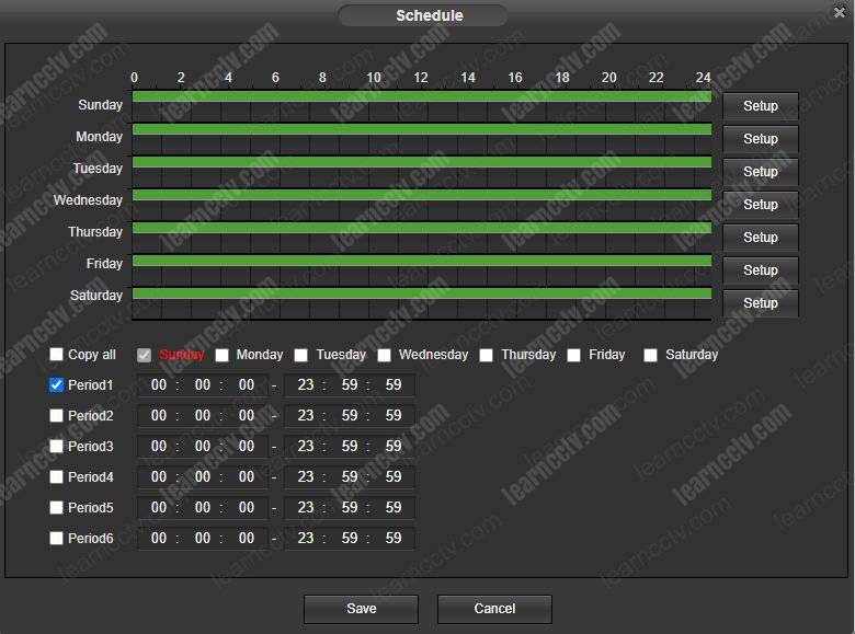 Amcrest Motion Detection Schedule