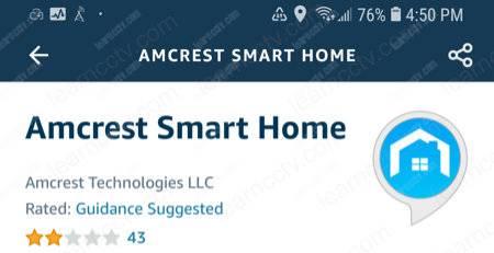 Amcrest Skill on Alexa