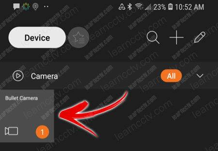 Camera added to the App