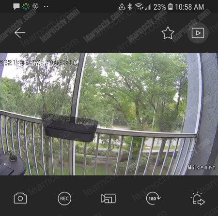Wisenet camera added to the App