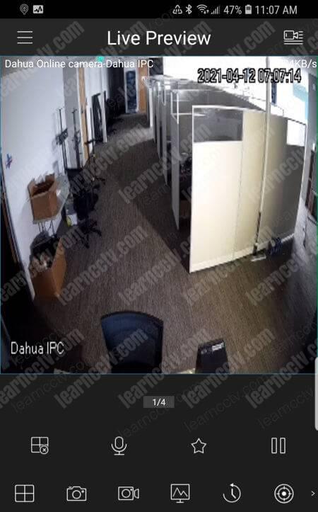 دوربین داهوا در گوشی هوشمند زندگی می کند