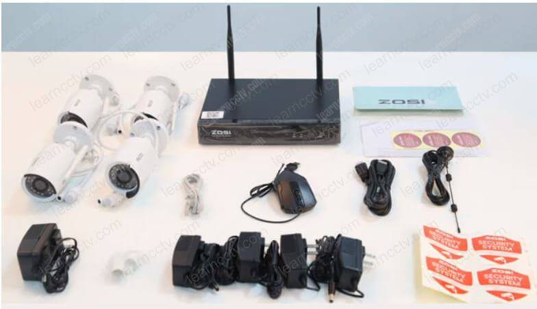 Zosi Wireless Security Camera Kit unboxed