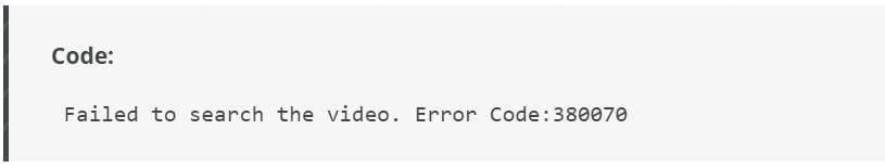 Hikvision error code 380070