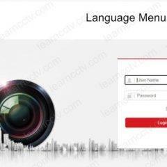 Hikvision camera login menu