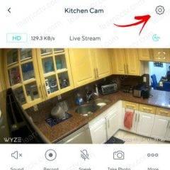 Wyze Cam Settings Gear