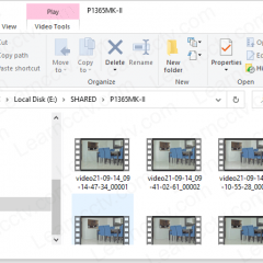 Shared folder with recorded videos