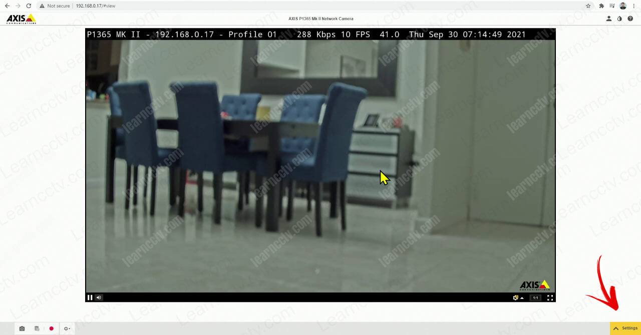 Axis IP camera with no focus