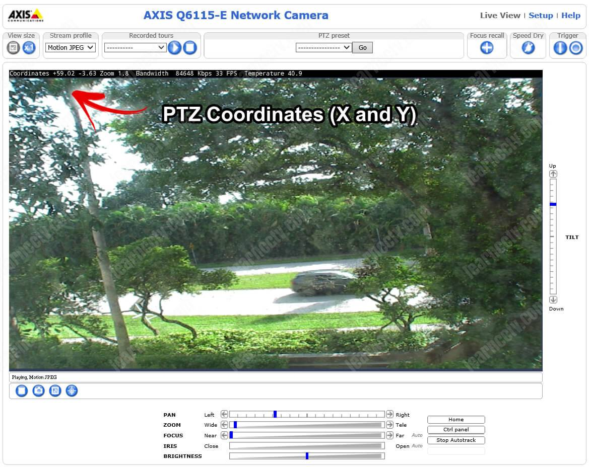 Axis PTZ with Coordinates