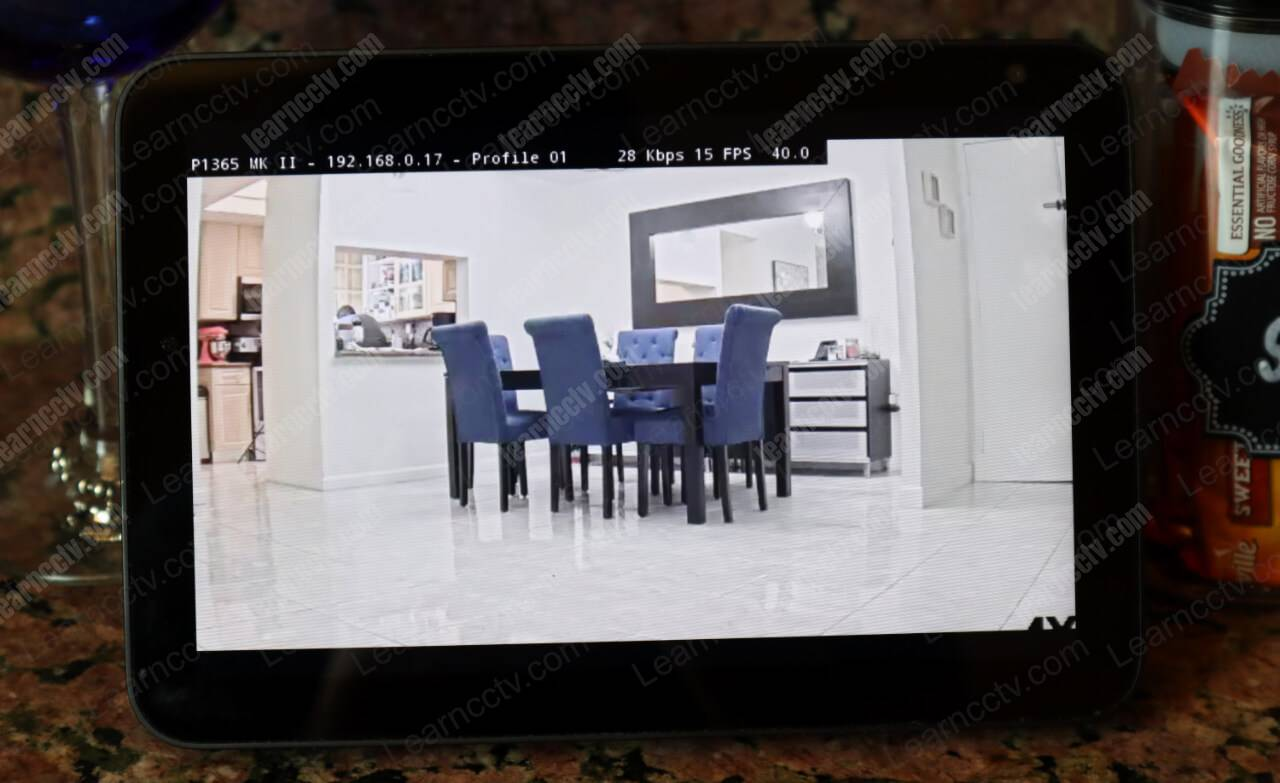 Axis camera on Echo Show Full Screen