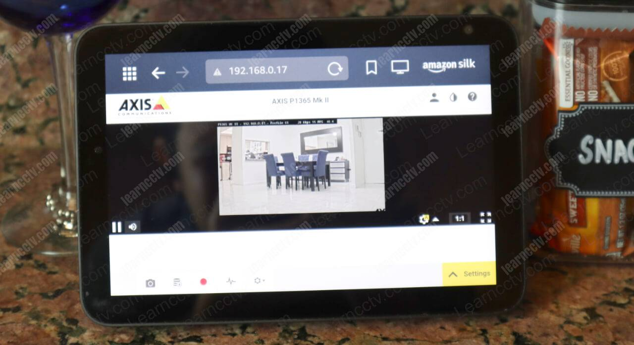 Axis camera on Echo Show Small Screen