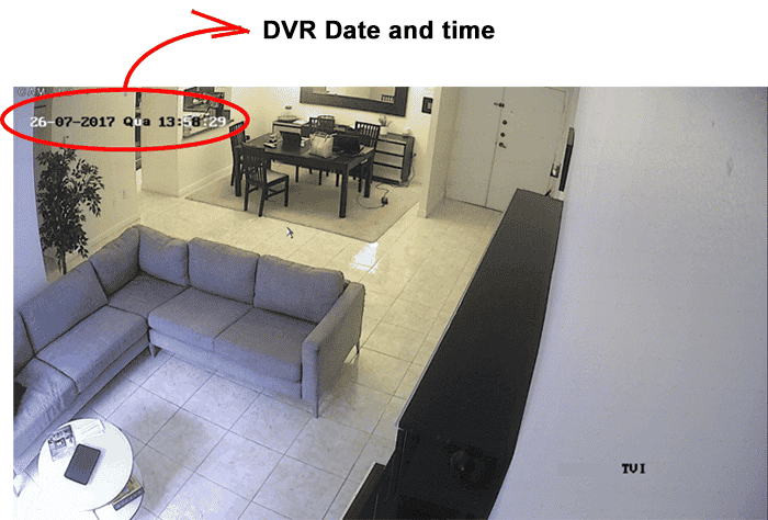 DVR date and time