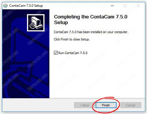 Installing the Contcam software 04