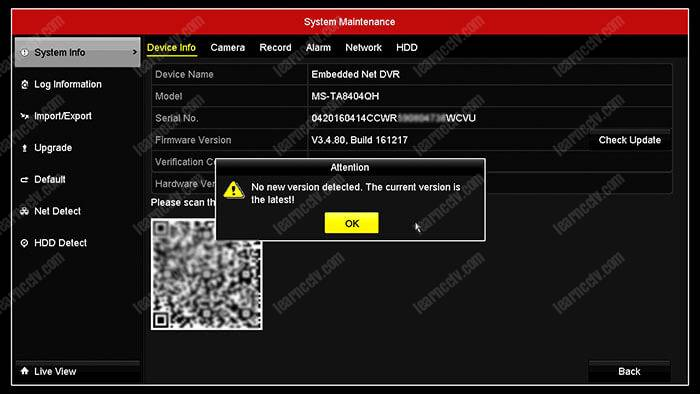 Hikvision error code 8200 (solved) - Learn CCTV com