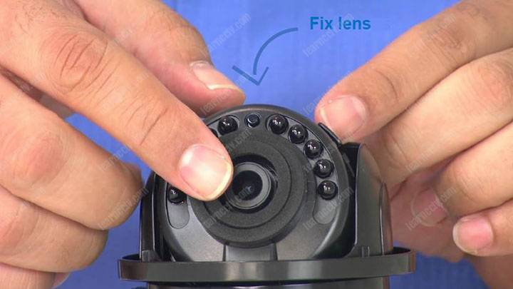 Dome camera with fixed lens