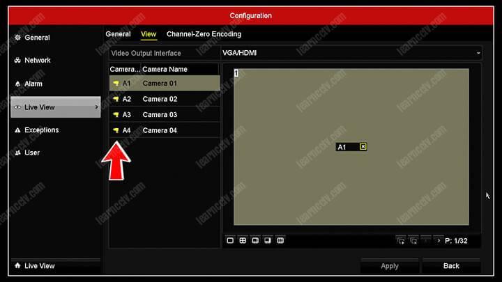 Hikvision DVR Channel Display