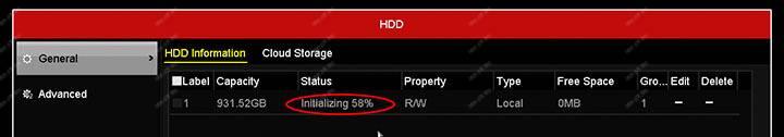 Hikvision DVR HDD Biçimlendirme