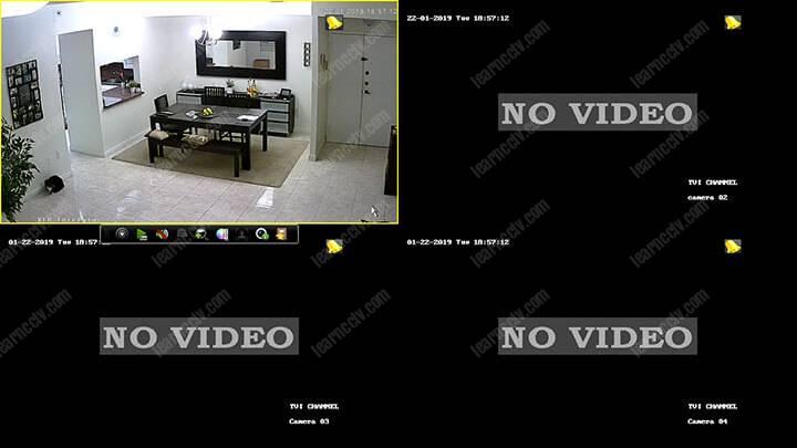 Hikvision DVR Main Screen