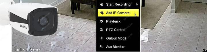 IP camera and Hikvision DVR Menu