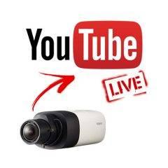 IP camera live on YouTube
