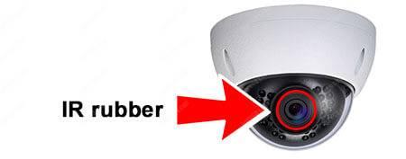 IR dome-camera IR rubber