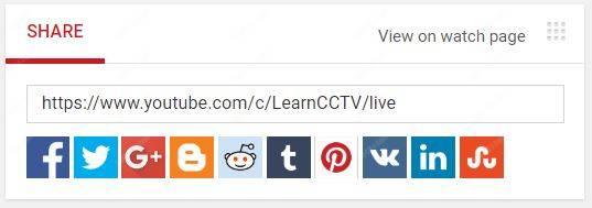 Share YouTube Live Stream