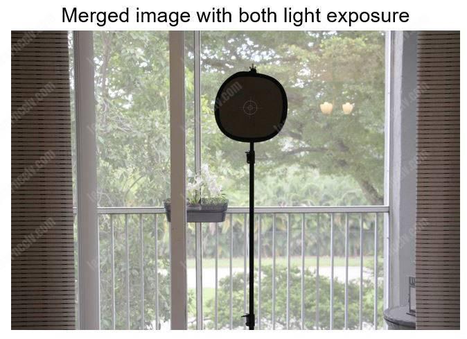 WDR merged image