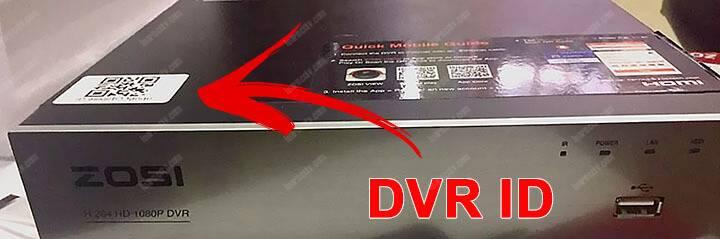 Zosi DVR QR Code DVR ID