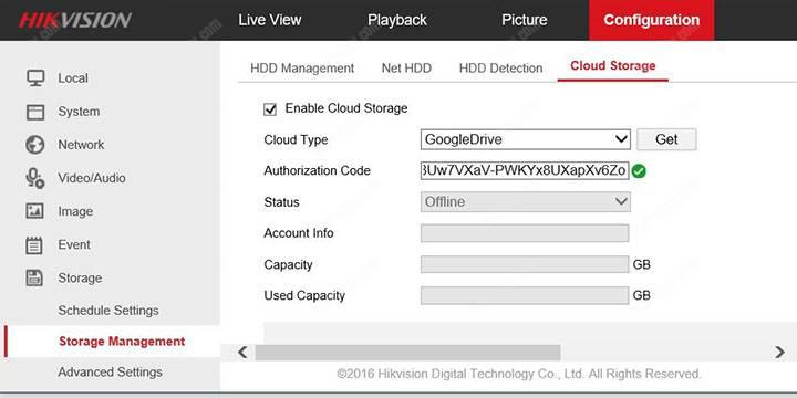 Hikvision DVR Configuration Storage Google Drive. Code OK