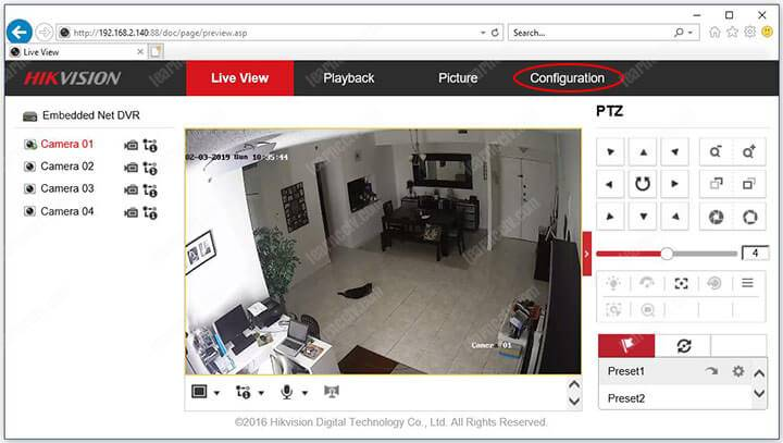 Hikvision DVR channel 01