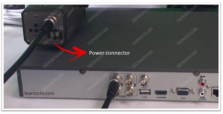 CCTV camera power connector