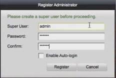 iVMS 4200 trên MAC OS tạo mật khẩu đăng nhập