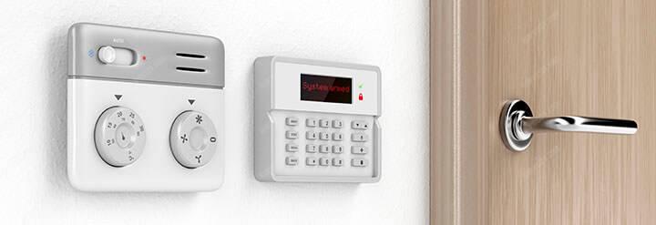 room temperature and alarm control panel