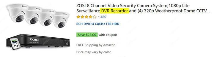 Analog security camera Kit
