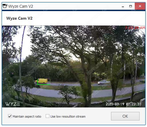 Luxriot Evo Wyze Cam Live