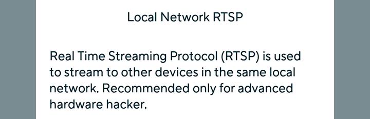 RTSP message