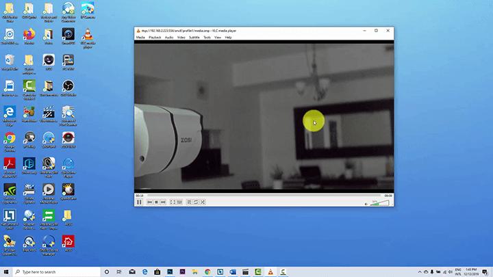 Stream IP camera to VLC