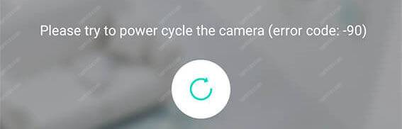 Wyze Camera error code 90