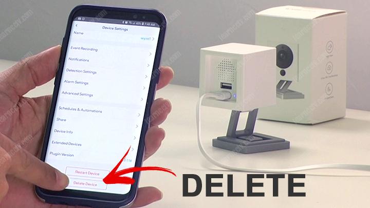 Wyze cam v2 app delete button