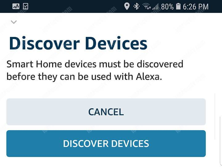Alexa App Discover Device