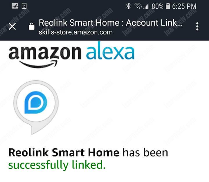Alexa and Reoling Successfully Linked